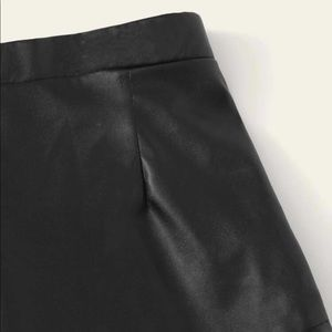 Girls Faux Leather Wrap Skirt